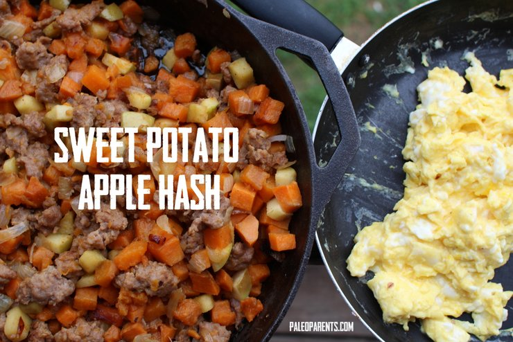 Sweet-Potato-Apple-Hash - How to Help Your Kids Eat More Veggies | Paleo Parents