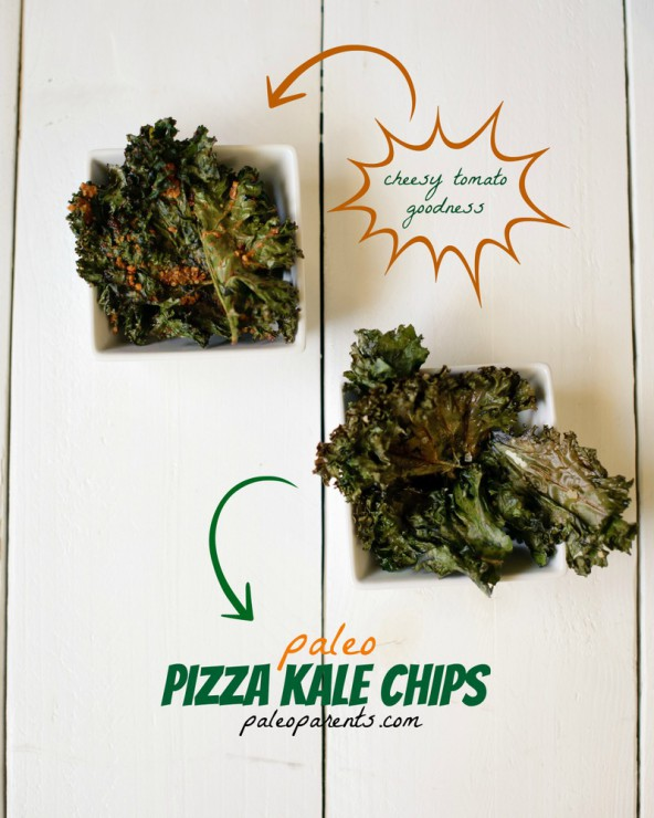 Pizza Kale Chips on Paleo Parents