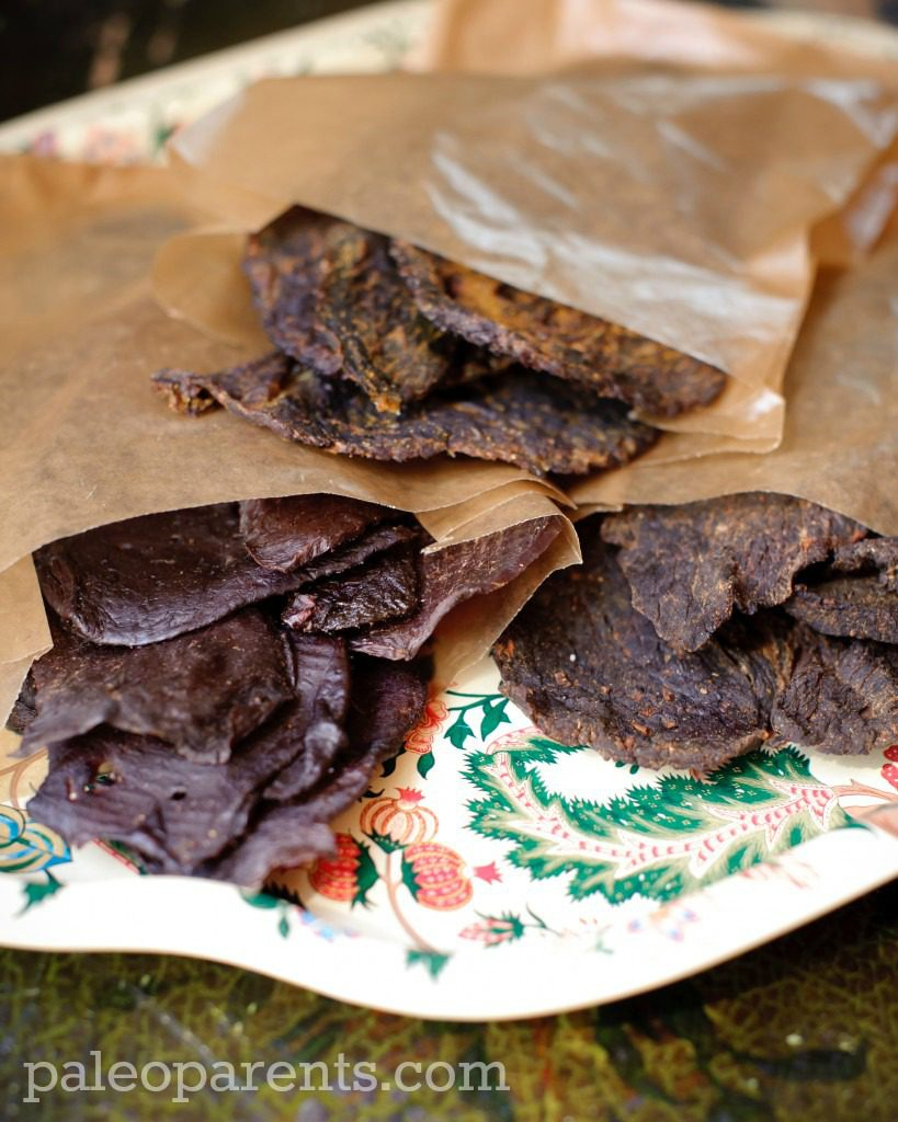 Beef-Jerky-Paleo-Parents-watermarked.jpg, Great travel snacks for the holidays- Paleo and Healthy!