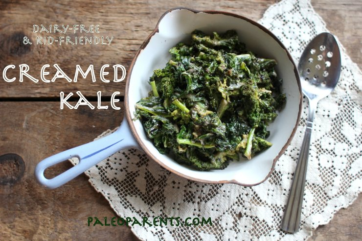 Image of Creamed Kale- a great side for a downsized Thanksgiving menu