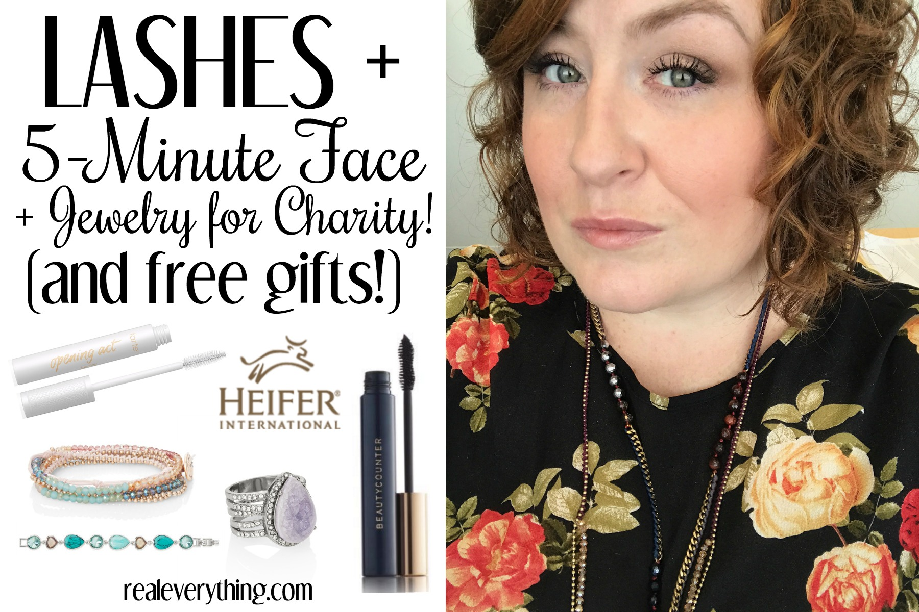 Lashes + 5 Min Face + Jewelry FOR CHARITY! (plus free gifts!) - Real Everything
