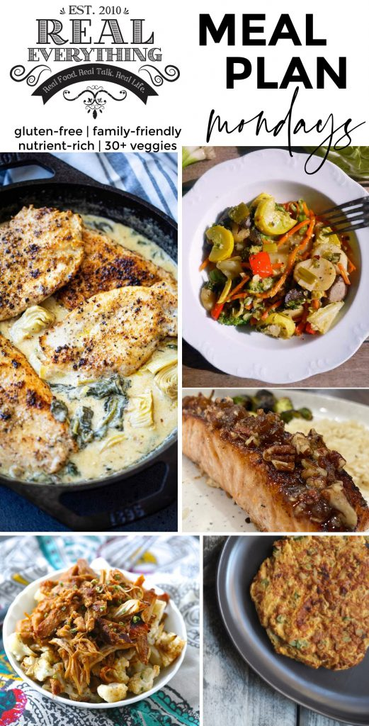 Meal Plan Monday January 11th Real Everything