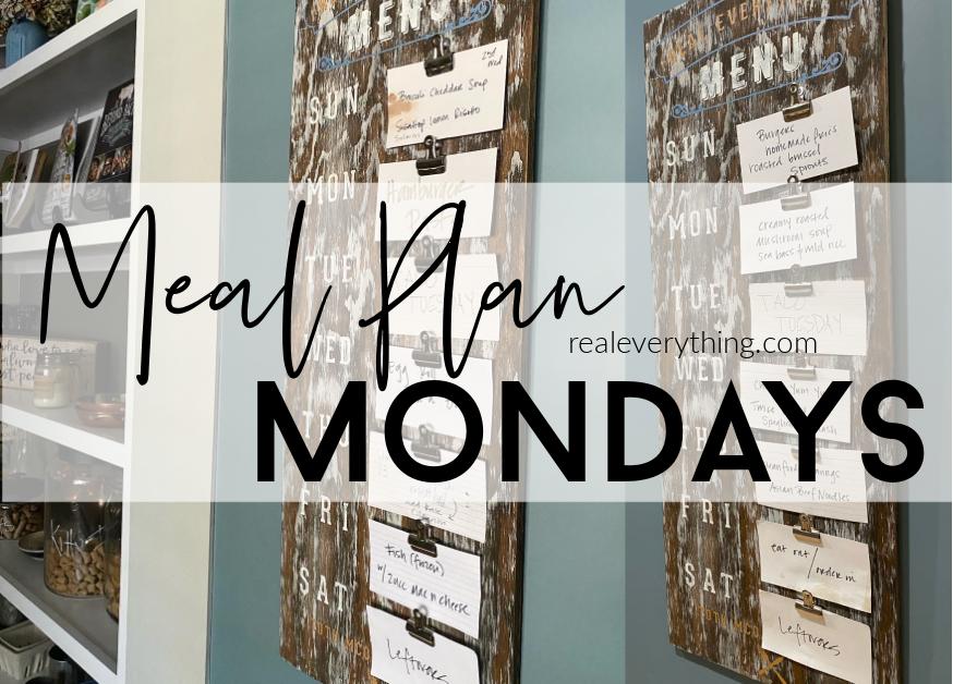 Meal Plan Mondays