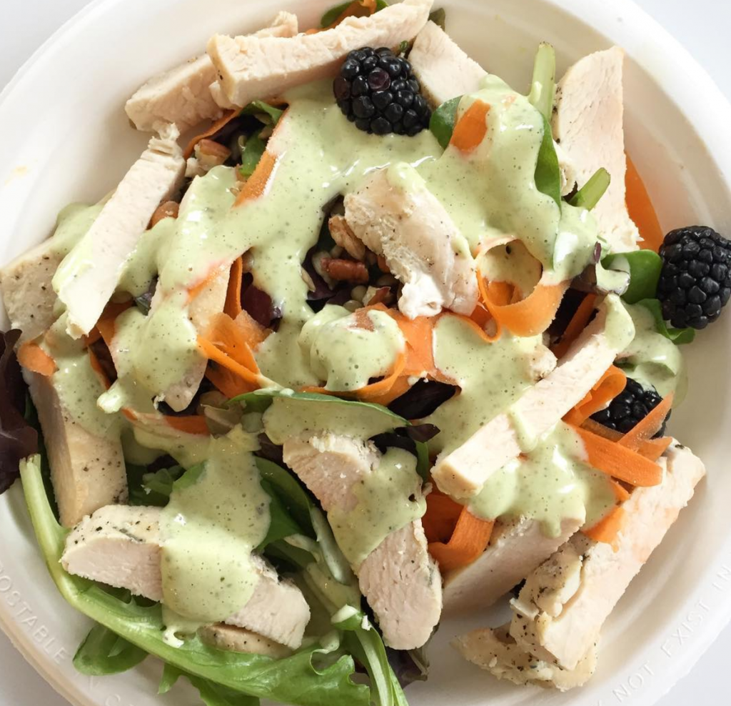 spring salad with herby ranch