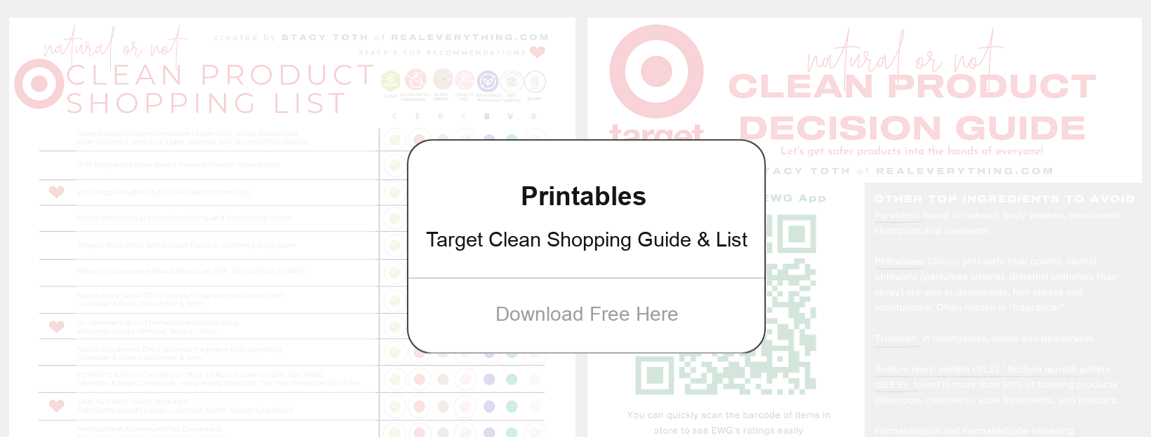 Target Clean Product Guide Printables