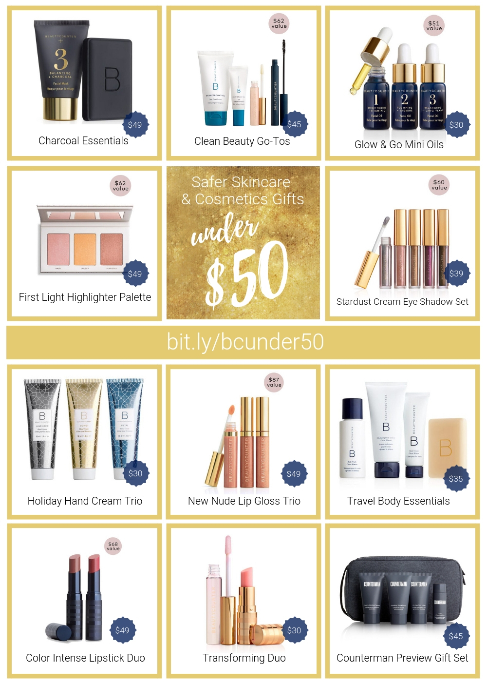 beautycounter holiday gift sets under $50