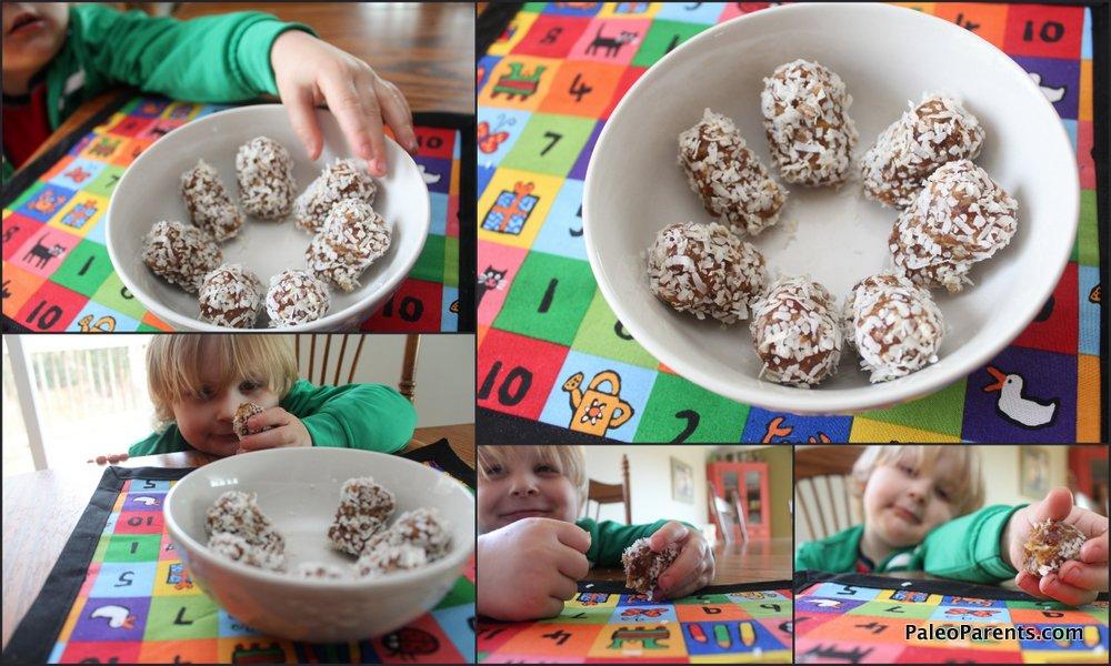 coconut pecan date rolls