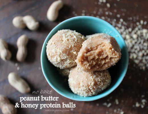 peanut butter honey protein balls on real everything