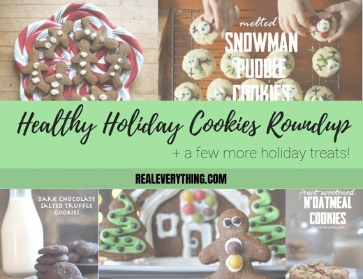 healthy holiday cookies roundup collage graphic