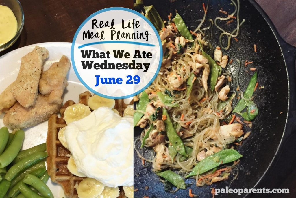Real Life Meal Plan June 29, Our Weekly Meal Plan Full of Fresh Veggies!   Paleo Parents