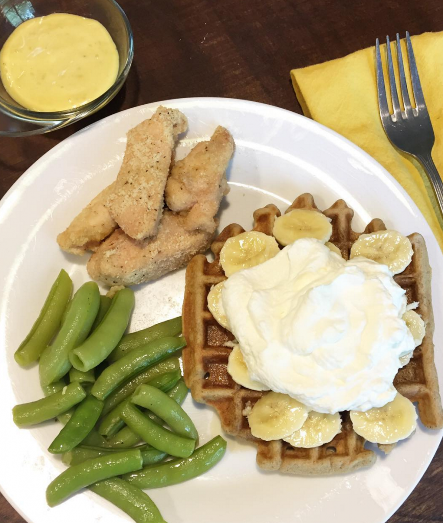 waffles and chicken, Our Weekly Meal Plan Full of Fresh Veggies!   Paleo Parents
