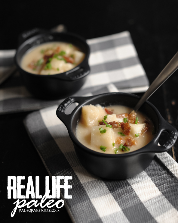 Baked-Potato-Soup-from-Real-Life-Paleo, Our favorite broth, stock, and soup recipes! Real Everything