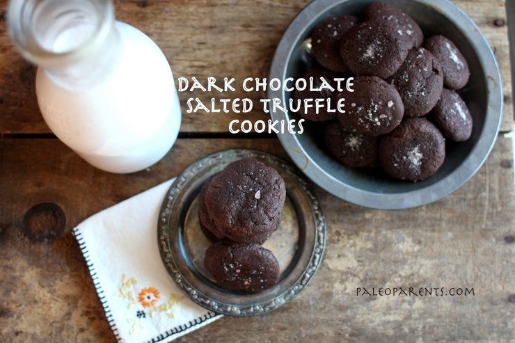 Dark-Chocolate-Salted-Truffle-Cookies, The BEST Paleo Chocolate Recipes and Treats! Real Everything