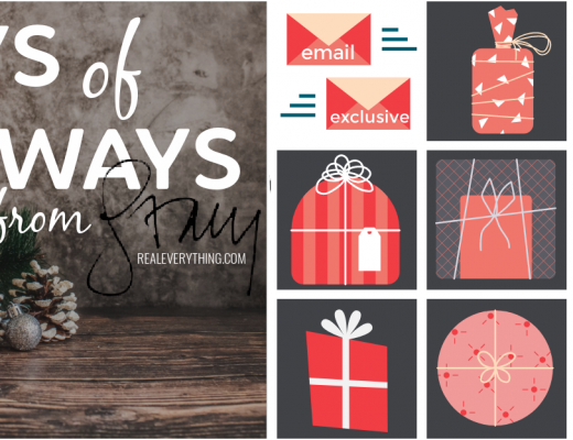 12 Days of Giveaways for 2020 with Real Everything