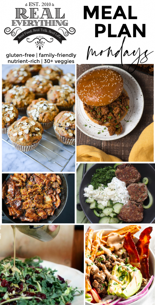 Meal Plan Monday April 19th - Real Everything
