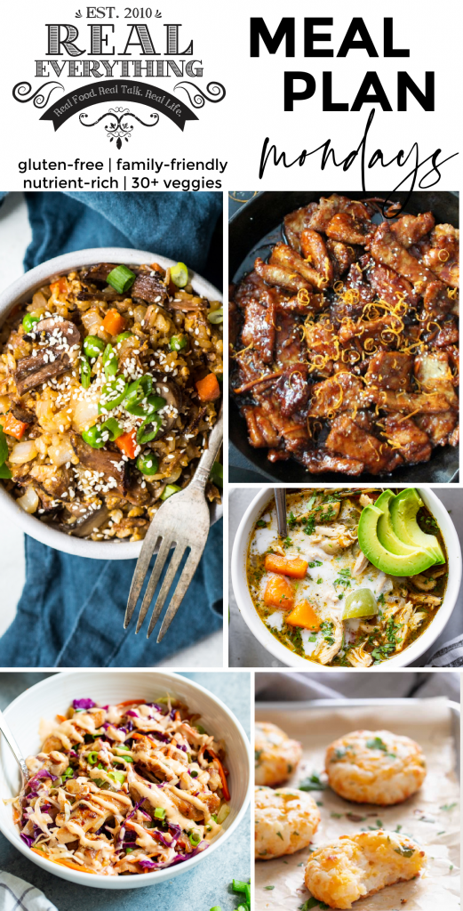 Meal Plan Monday February 15th - Real Everything