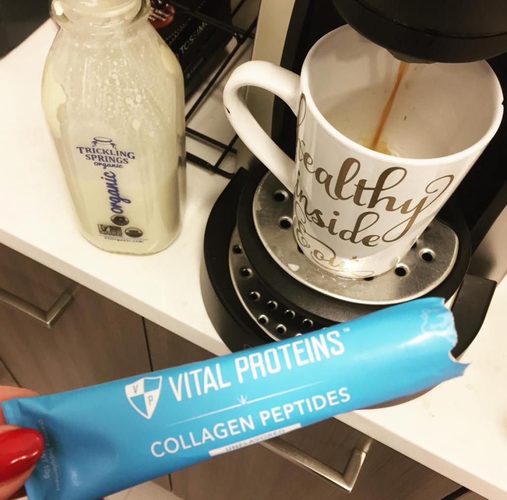 Vital proteins in latte