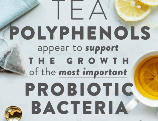 Tea polyphenols appear to support the growth of the most important probiotic bacteria