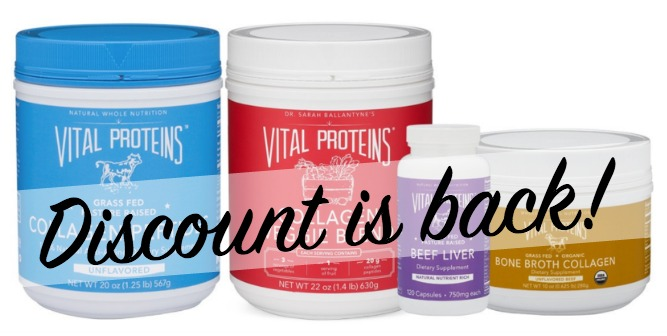 Paleo Parents Vital Proteins Discount Details