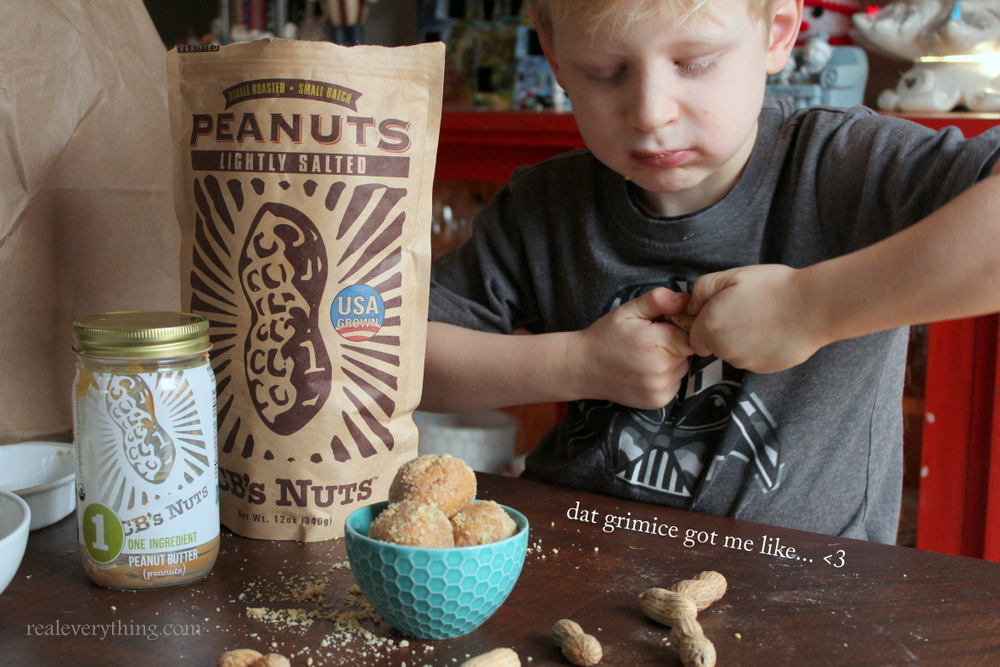 no bake peanut butter honey protein balls on real everything