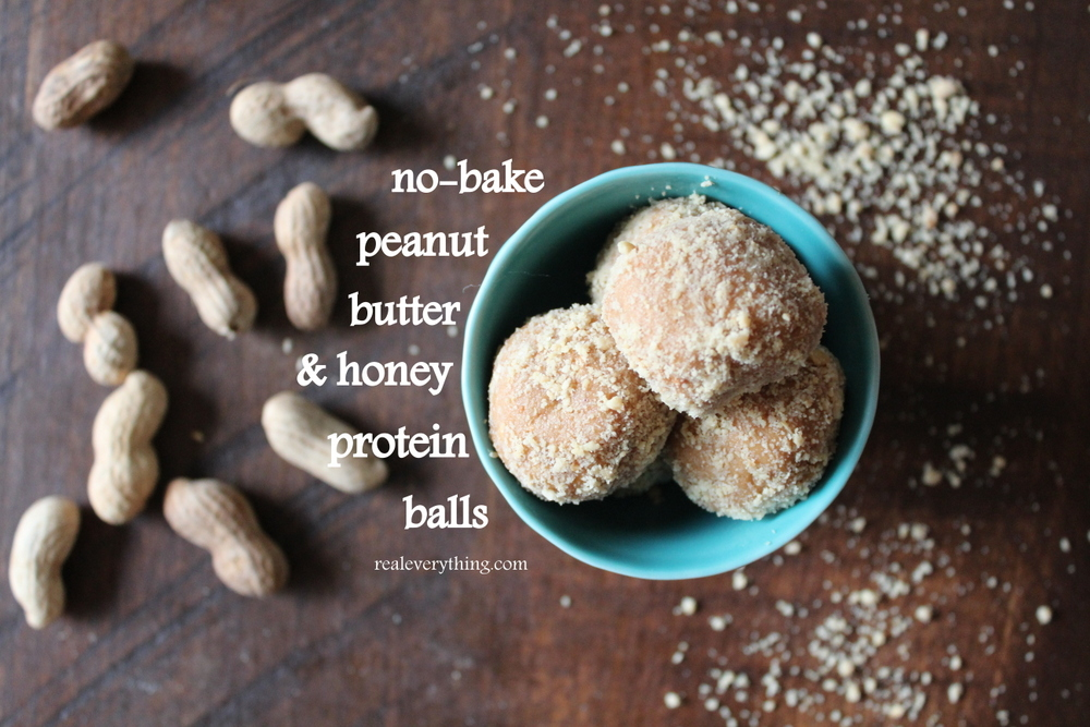 peanut butter honey balls on real everything